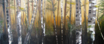 "Forest One Oil  30""x 60""  Commissioned Piece  SOLD"