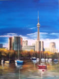 Toronto Waterline  Acrylic    18x24  Commissioned