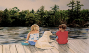 "Memories on the Dock   Soft Pastel 12""x16"" Commissioned Piece"