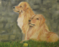 "Playing    Soft pastel 14""x20"" Commissioned Piece SOLD"