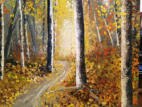 Golden Forest  Oil   (SOLD) - Commissioned